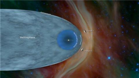 태양권 계면 벗어나 성간우주 진입한 보이저 2호  ⓒ NASA/JPL-Caltech 제공