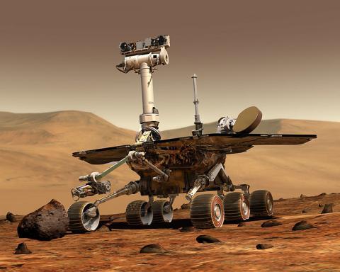 2000년대에 화성표면을 탐사한 오퍼튜니호와 스피릿호의 탐사로버 ⓒ NASA
