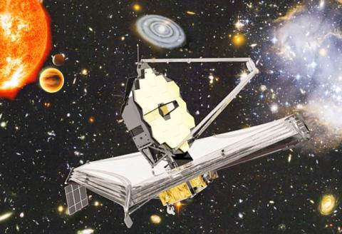 2021년 3월 우주로 발사될 예정인 제임스 웹 우주망원경 상상도.  CREDIT: ESA, NASA, S. Beckwith (STScI) and the HUDF Team, Northrop Grumman Aerospace Systems / STScI / ATG medialab