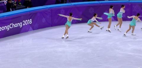 5G를 기반으로 찰나의 순간을 시청자들에게 제공한 타임슬라이스 기술 ⓒ 평창올림픽조직위원회