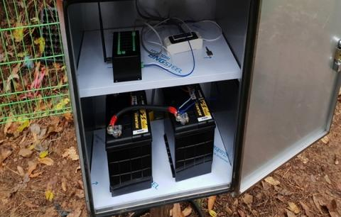 설치된 무인원격감시시스템