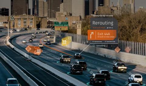 2018년 한 해 동안 이전에 볼 수 없었던 놀라운 기술들이 개발되면서 기대감과 함께 두려움이 세상을 엄습하고 있다. 사진은 무인자동차 신호 시스템. ⓒHERE Road Signs
