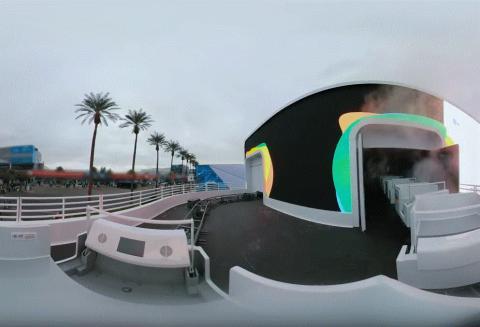 구글이 공개한 열차로봇 '구글 어시스턴트 라이드'.