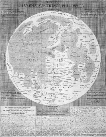 랑그렌의 달 지도 ⓒ 위키백과 자료