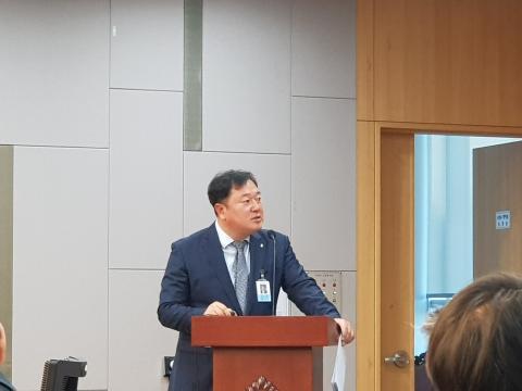김장성 한국생명공학연구원장은 바이오 규제를 중심으로 바이오 혁신성장 과제를 발표했다. ⓒ 김순강 / ScienceTimes
