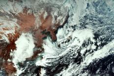 천리안 위성 2A호가 촬영한 한반도 주변 ⓒ 기상청