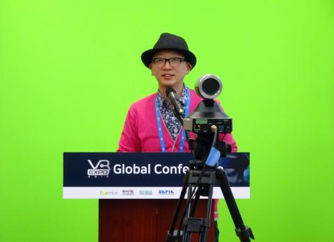 감성놀이터 최석영 대표는 국내에서는독특하게 VR과 예술을 접목한 VR 심리치유 콘텐츠를 선보여 눈길을 끌었다. ⓒ김은영/ ScienceTimes
