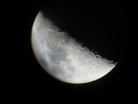 명암경계선 상에서 잘 보이는 달 충돌구 ⓒ 박지욱 / ScienceTimes
