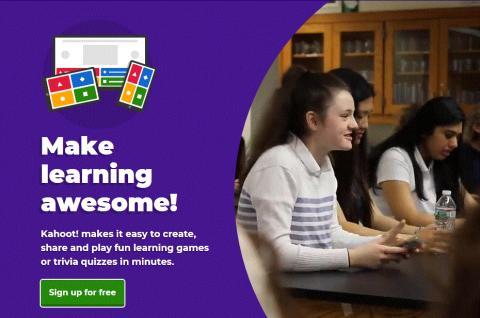 몰입하면서 학습의지를 높이고 게임처럼 즐기는 게이미피케이션을 기반으로 만든 노르웨이의 학습플랫폼 '카훗(Kahoot)'.  ⓒ kahoot.com