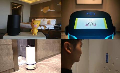 얼굴 인식 기능을 갖춘 로봇과 객실 문 등을 통해 호텔 입장 후부터 객실 입실까지 전 과정에서 사람 대신 로봇의 안내를 받을 수 있게 됐다. ⓒ 임지연 / ScienceTimes