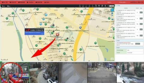 실시간으로 제공된 화재 현장 주변 CCTV 영상 ⓒ 경기도소방재난본부