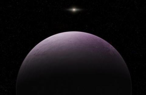 태양계 끝에서 관측된 2019 VG18 상상도  ⓒ 로베르토 몰라 칸다노사/카네기 과학연구소