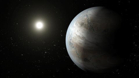 지구와 매우 유사하여 생명체가 존재할 가능성이 큰 것으로 추정되었던 케플러452b의 가상적인 모습 ⓒ Wikipedia