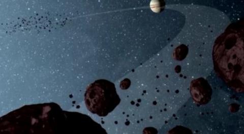 거대한 궤도를 이루며 공전하고 있는 트로이 소행성군의 상상도 ⓒ NASA