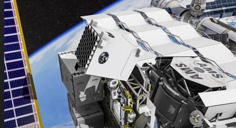 국제우주정거장(ISS)에 탑재된 NICER 그림.  Credit: Space.com / NASA's Goddard Space Flight Center