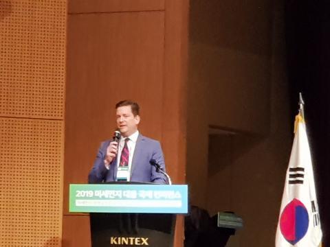 인공강우 전문기업인 WMI닐 브래킨 대표가 '기후변화와 인공강우'에 대해 발표했다.