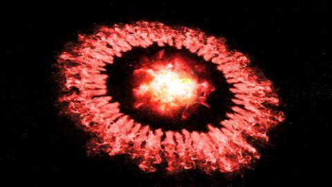 초신성 대폭발의 폭풍파가 외곽고리로 확산하며 우주 먼지를 파괴한 뒤 급속히 재형성되는 과정을 보여주고 있다 ⓒ NASA/SOFIA