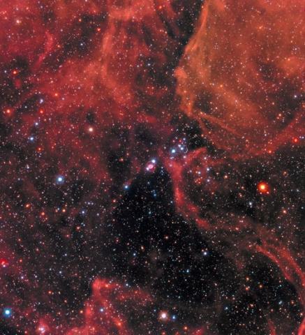대마젤란은하 내 SN 1987A(정중앙)  ⓒ NASA/STScI