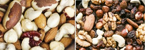 연구 결과 콩과식물인 땅콩보다 호두, 아몬드, 잣, 피스타치오 등의 나무 견과류가 심혈관질환 위험 감소에 효과가 높은 것으로 나타났다. 사진은 시중에서 파는 혼합 너트류. ⓒ : Wikimedia Commons / Sage Ross / Pixabay
