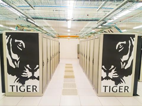 이번 연구에 활용된 미국 프린스턴 대학의 타이거 슈퍼컴퓨터 클러스터.  CREDIT: Princeton University