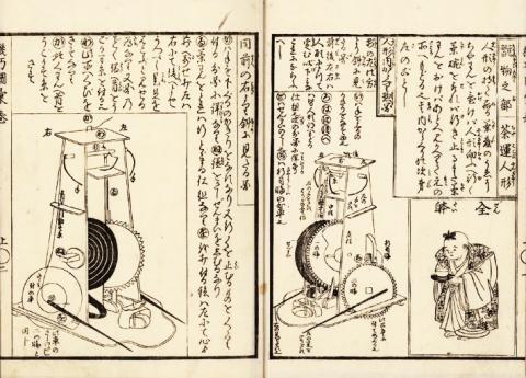 일본 에도시대 과학서적 '기교도휘'