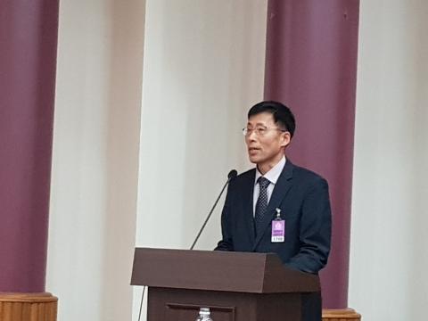 (주)네비웍스 박병희 상무가 'AR/VR 적용한 훈련체계 발전'에 대해 발표했다.