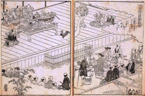 18세기 일본 오토마타 극장 ⓒ public domain
