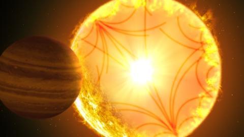 케플러-1658 항성계 상상도  ⓒGabriel Perez Diaz/Instituto de Astrofisica de Canarias/연합뉴스