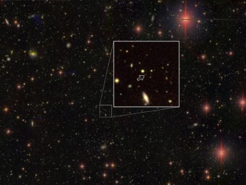 130억5000만 광년 떨어진 곳의 초질량 블랙홀에 의한 퀘이사  ⓒ 일본 국립천문대 /연합뉴스