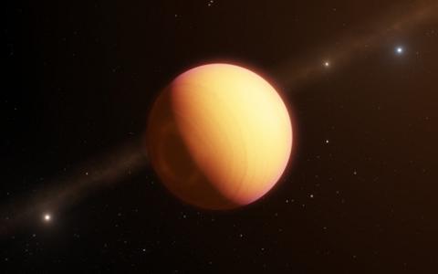광학 간섭계를 이용해 처음으로 직접 관측한 외계행성 'HR8799e' 상상도