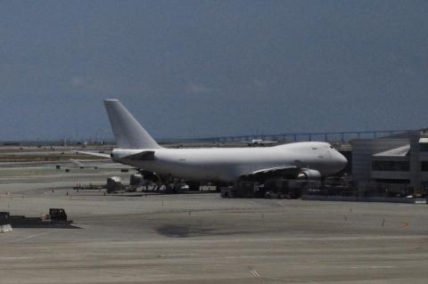 B747 점보의 특이한 디자인은 한눈에 알아볼 수 있다.샌프란시스코국제공항(SFO) ⓒ  박지욱