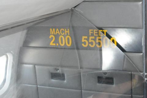 콩코드 내부.음속의 2배,순항고도는 17km이다.시애틀 항공우주박물관. ⓒ 박지욱