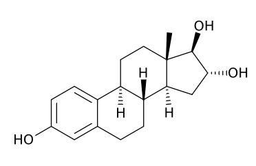 남성호르몬 테스토스테론과는 달리 여성호르몬 에스트로겐은 특정한 분자가 아니라 일련의 분자들을 포괄한 이름이다. 대표적인 에스트로겐인 에스트라디올(estradiol)의 분자구조다. 이번 연구도 에스트라디올 수치를 분석한 것이지만 익숙한 에스트로겐으로 표기했다.  ⓒ 위키피디아