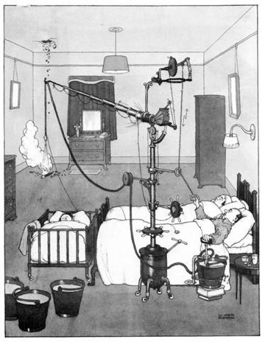 A Bedside Bomb Extinguisher ⓒ William Heath Robinson