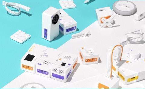 신생 로봇 스타트업 (주)럭스로보는 13개의 모듈로 이루어진 코딩로봇 'MODI'를 개발해 세계에 이름을 알렸다.