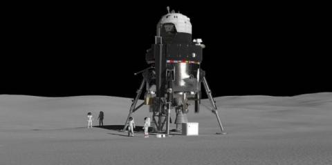 루나게이트웨와 달을 오갈 착륙선의 상상도 ⓒ Lockheed Martin