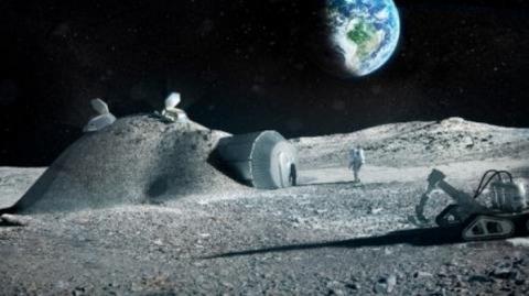 달을 탐사하는 대원들이 거주할 '문빌리지' 상상도