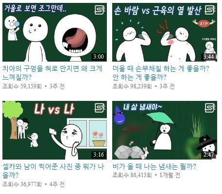 사물궁이 잡학지식 채널에는 기발하면서도 참신한 콘텐츠가 가득하다. ⓒ 유튜브 캡쳐