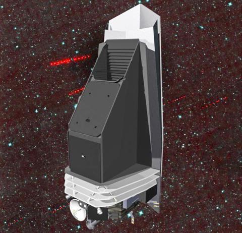 지구에 접근하는 소행성과 혜성을 탐색, 추적하고 특성을 확인하기 위해 고안된 네오캠[Near-Earth Object Camera (NEOCam)] 그림. 열 적외선 카메라를 사용해 NEO가 밝은 색이든 어두운 색을 띠든 관계없이 NEO의 열 신호를 포착할 수 있다. 망원경이 들어있는 탑재체의 겉을 검은 색으로 칠해 열을 효과적으로 방출하도록 했다. 그리고 태양 차폐를 통해 지구와 거의 같은 궤도를 돌고 있는 NEOs들을 태양 가까이에서도 잘 관찰할 수 있도록 했다. 이 네오캠이 가동되면 2013년의 첼랴빈스크 유성 충돌과 같은 사태를 미연에 방지할 수 있을 것으로 기대된다.  CREDIT: NASA