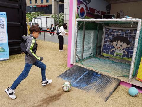 내가 찬 축구공의 속력은 얼마나 될까? 한국표준과학연구원(KRISS)의 재미있는 측정체험. ⓒ 김청한 / ScienceTimes