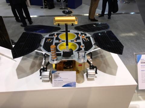 2018년, 브레멘 국제 우주비행 회의에서 공개된 HX-1 탐사 로버 목업 모형 ⓒPablo de León