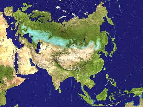 유라시아의 대초원 벨트. Credit: Wikimedia