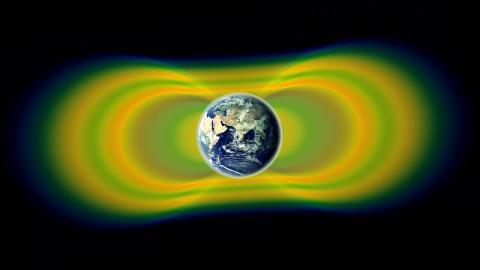 지구자기장에 의해 형성되는 밴앨런대 ⓒ public domain