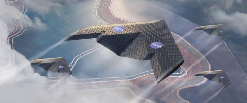 새로운 비행기 날개의 컨셉 이미지 ⓒ Eli Gershenfeld, NASA Ames Research Center