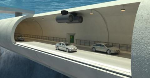 해저터널이나 다리보다도 더 효과적인 부유식 수중 터널의 개념도 ⓒ NPRA