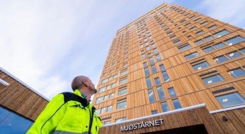 노르웨이의 수도 오슬로에 세워진 세계 최고층 목조빌딩의 위용
