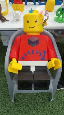 3D 프린터 기업 노원마커스원이 전시한 3D 프린팅 레고 조형물ⓒ정현섭/ScienceTimes