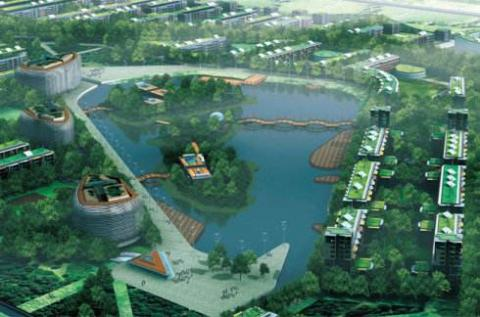 상하이(上海) 총밍구(崇明区)일대에 일명 '생태 도시(ECO-city)' 건설 움직임이 한창이다. @