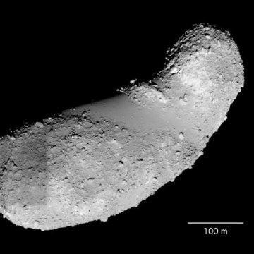 땅콩 같이 생긴 이토카와 소행성 ⓒ Japan Aerospace Exploration Agency (JAXA)