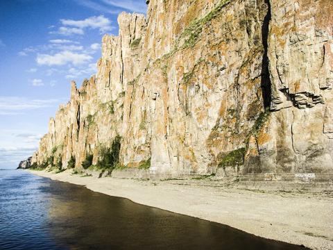 연구팀이 탐사 작업을 벌인 시베리아 사카(Sakha)에 있는 레나 강. CREDIT: Andrey Zhuravlev, Lomonosov Moscow State University